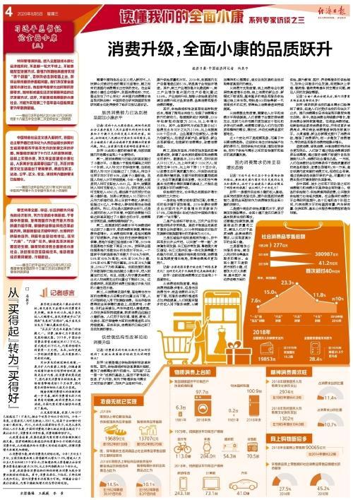 经济日报带你读懂全面小康,今天关注消费升级